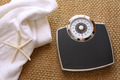 Weight scale with towel on carpet - PhotoDune Item for Sale