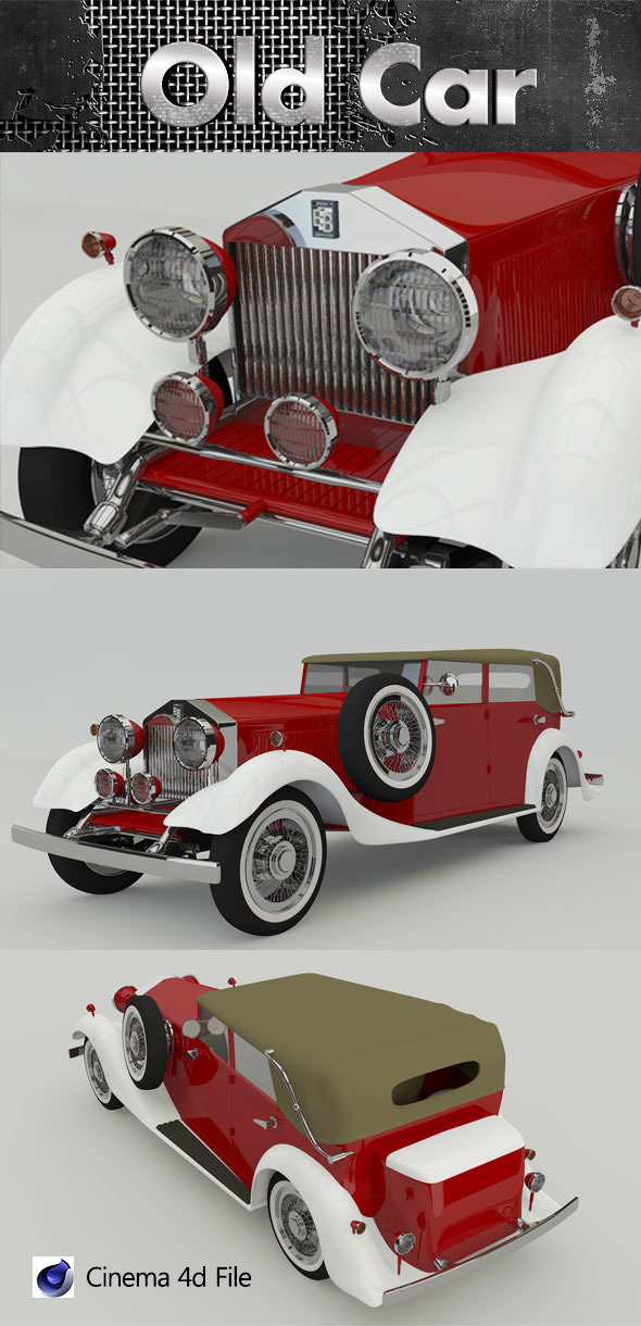 Old Luxury Car 3D Model  - 3DOcean Item for Sale