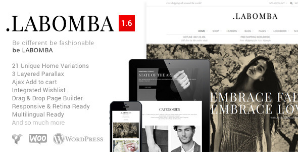 plantillas ecommerce moda Labomba - Responsive Multipurpose WordPress Theme - WooCommerce eCommerce