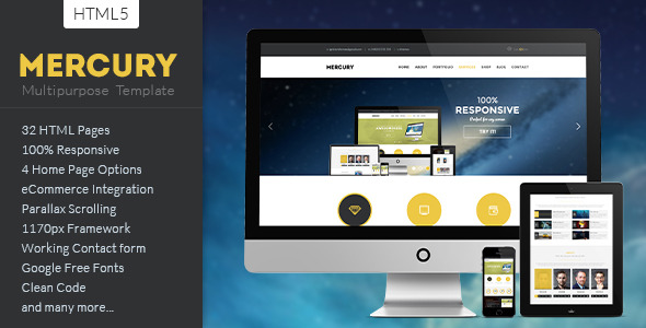 MERCURY - Multipurpose HTML5 Template
