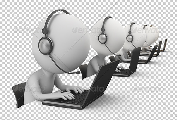3D small people call center