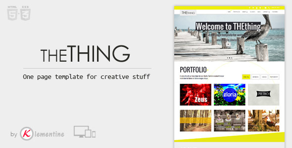 THEthing - One Page HTML Creative Template