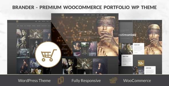 Description Brander is a premium and flexible WooCommerce WordPress Portfolio Theme, suited for users with no coding knowledge as well as developers. It includ