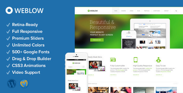 Weblow - Responsive Multi-Purpose Theme - Business Corporate