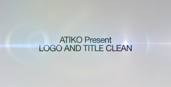 After Effects Project - VideoHive Logo and Title Clean 753690