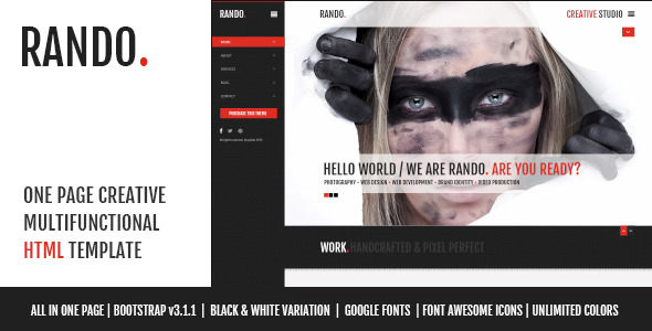 Rando - One Page Multifunctional HTML Template