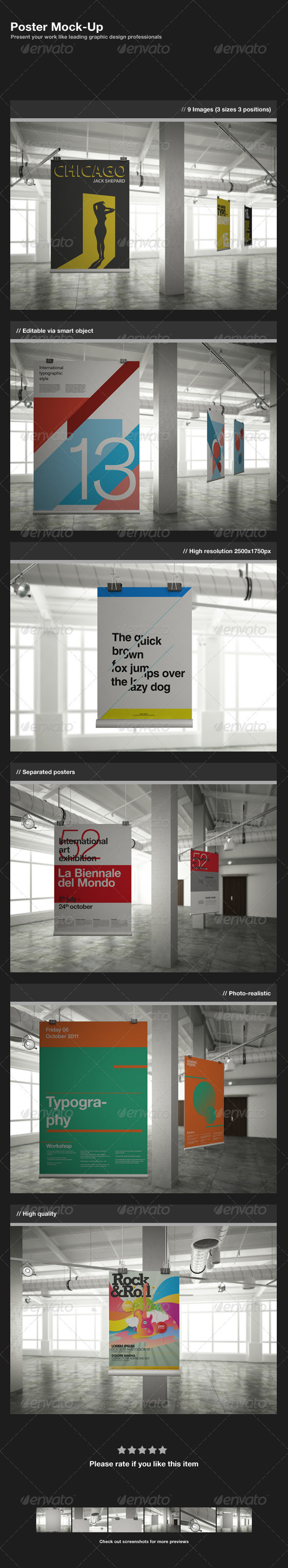 GraphicRiver Poster Mock-Up 758114