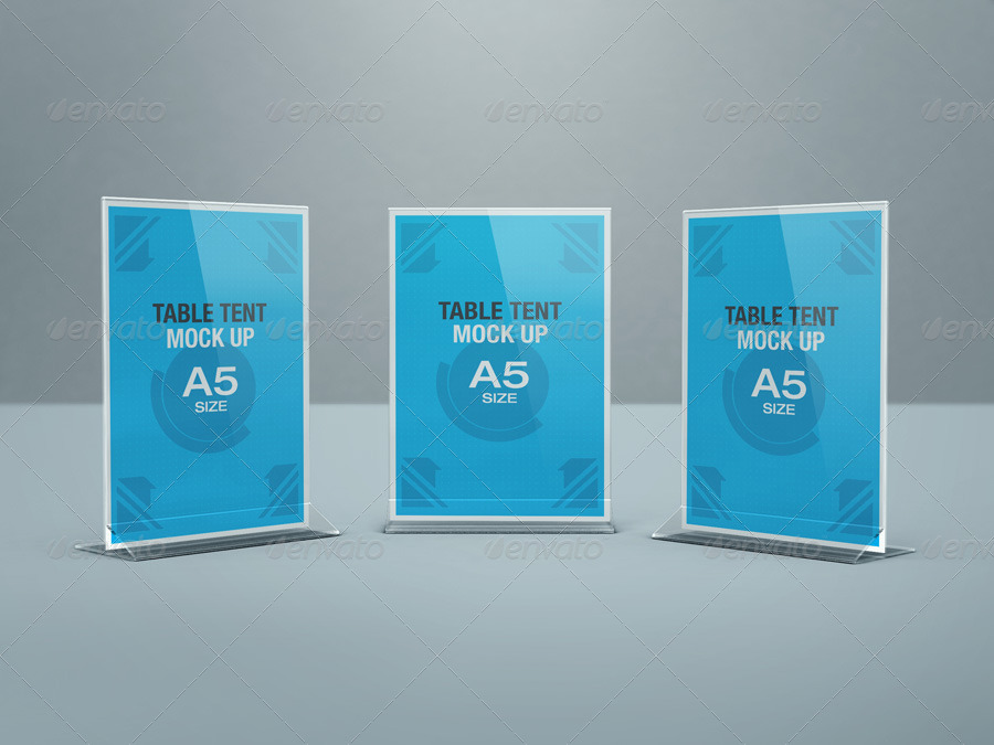 Table Tent Mock Up By Kenoric Graphicriver