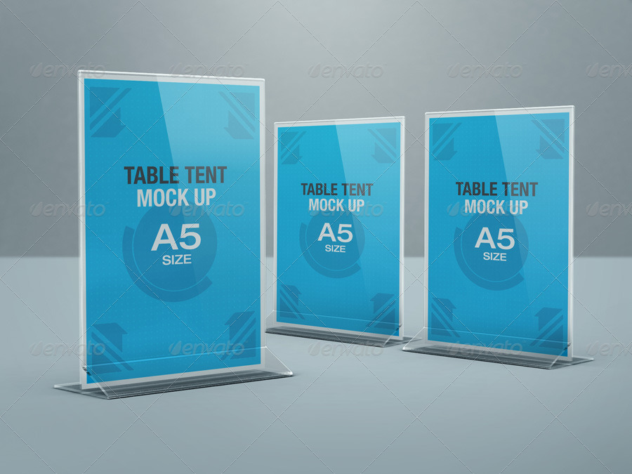 Table Tent Mock-up by kenoric | GraphicRiver
