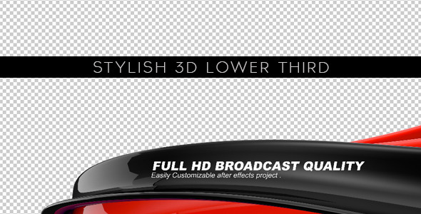 Stylish 3D Lower Third by atito | VideoHive