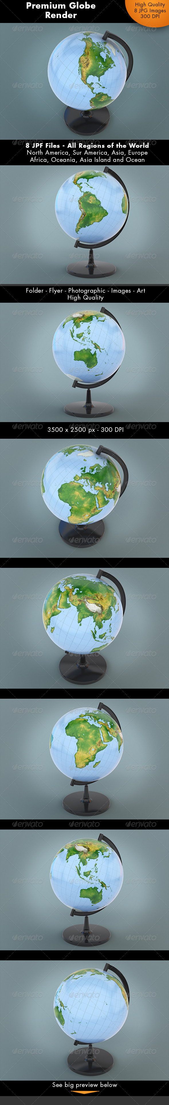 Realistic Globe World - Miscellaneous 3D Renders