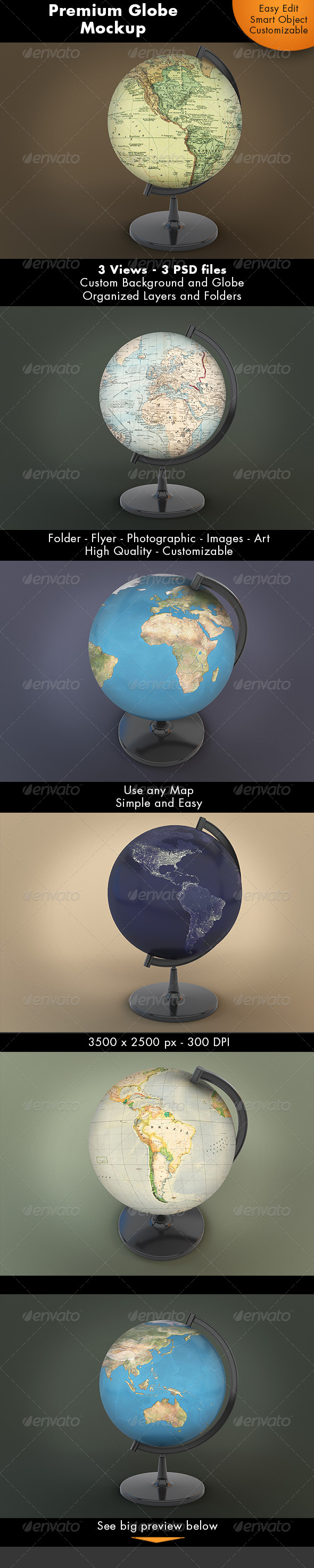 Globe Mockup - Miscellaneous Product Mock-Ups