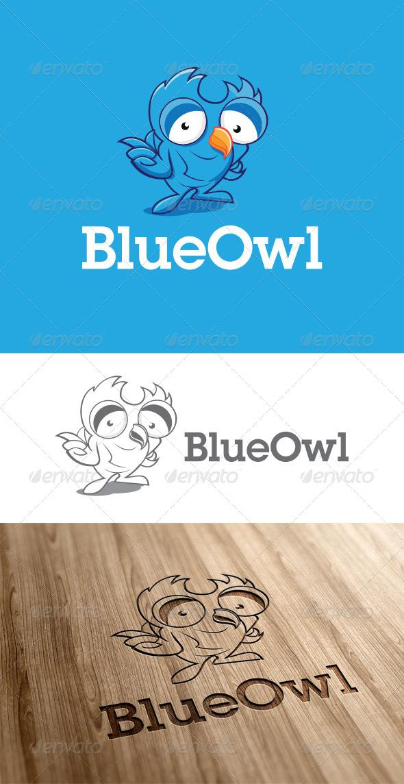 Charcter Owl Logo Template