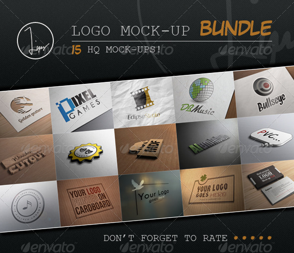 Logo Mock-Up Bundle - Logo Product Mock-Ups