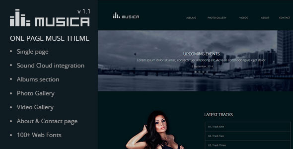 ThemeForest Musica Music Band & DJ Muse Theme 7095835