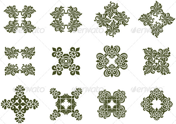 Floral Damask Icons