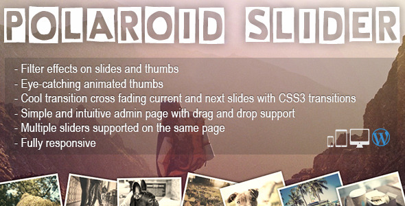 Polaroid Slider - A fun & unique WP slider Plugin - CodeCanyon Item for Sale