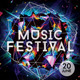 Futuristic Music/Gigs/Festival Flyer Templates  - GraphicRiver Item for Sale