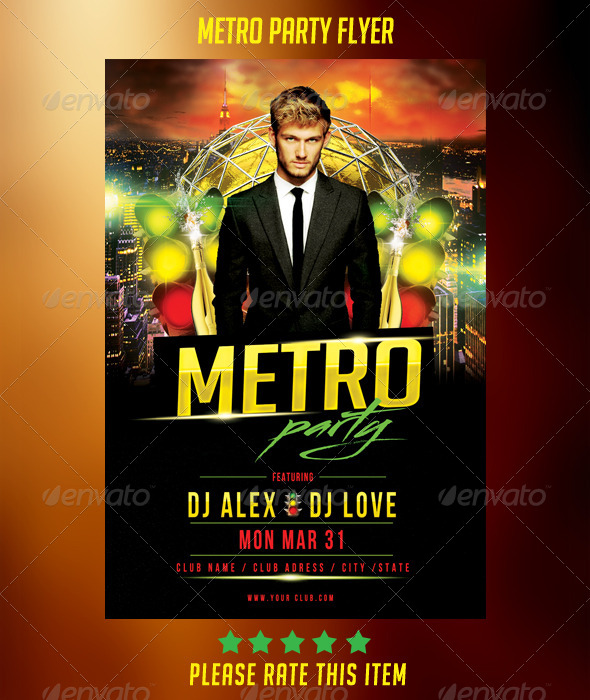 Metro Party Flyer
