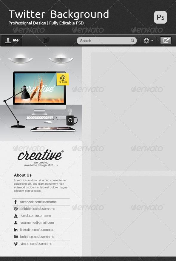 Creative Twitter Background V2 - Twitter Social Media