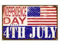 Independence Day Enamel Sign - PhotoDune Item for Sale