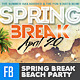 Spring Break Beach Party FB Cover - GraphicRiver Item for Sale