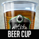 Beer Cup Mock Up - GraphicRiver Item for Sale