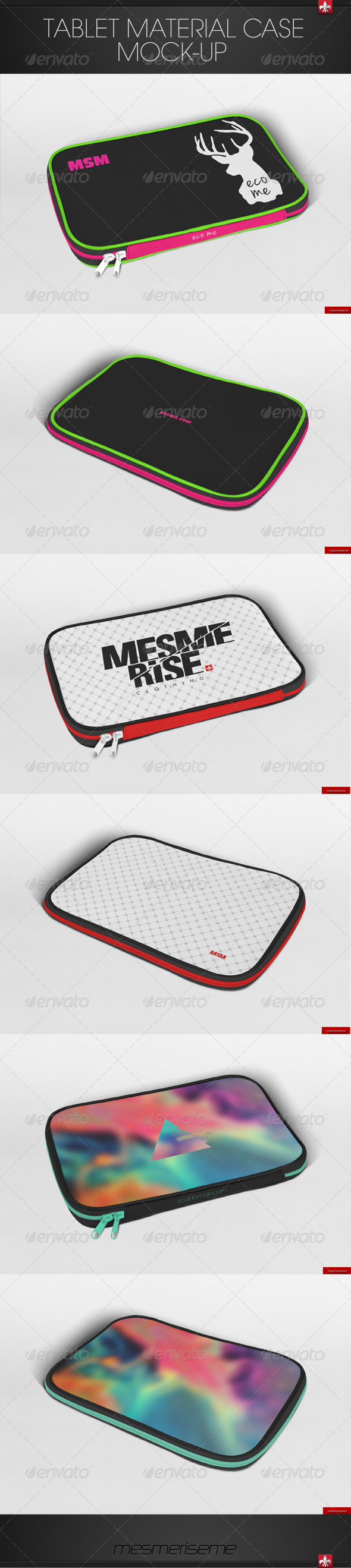 Tablet Material Case Mock-up