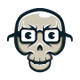 Nerd Skull - GraphicRiver Item for Sale