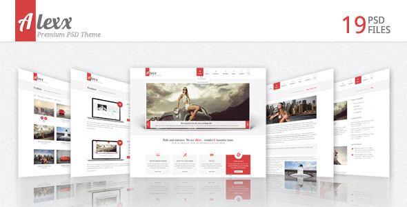 Alexx - Multipurpose PSD Theme