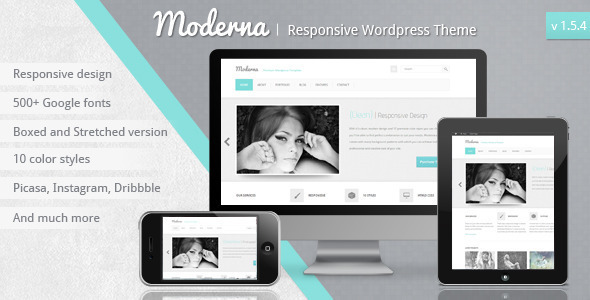 Moderna Responsive Wordpress Theme