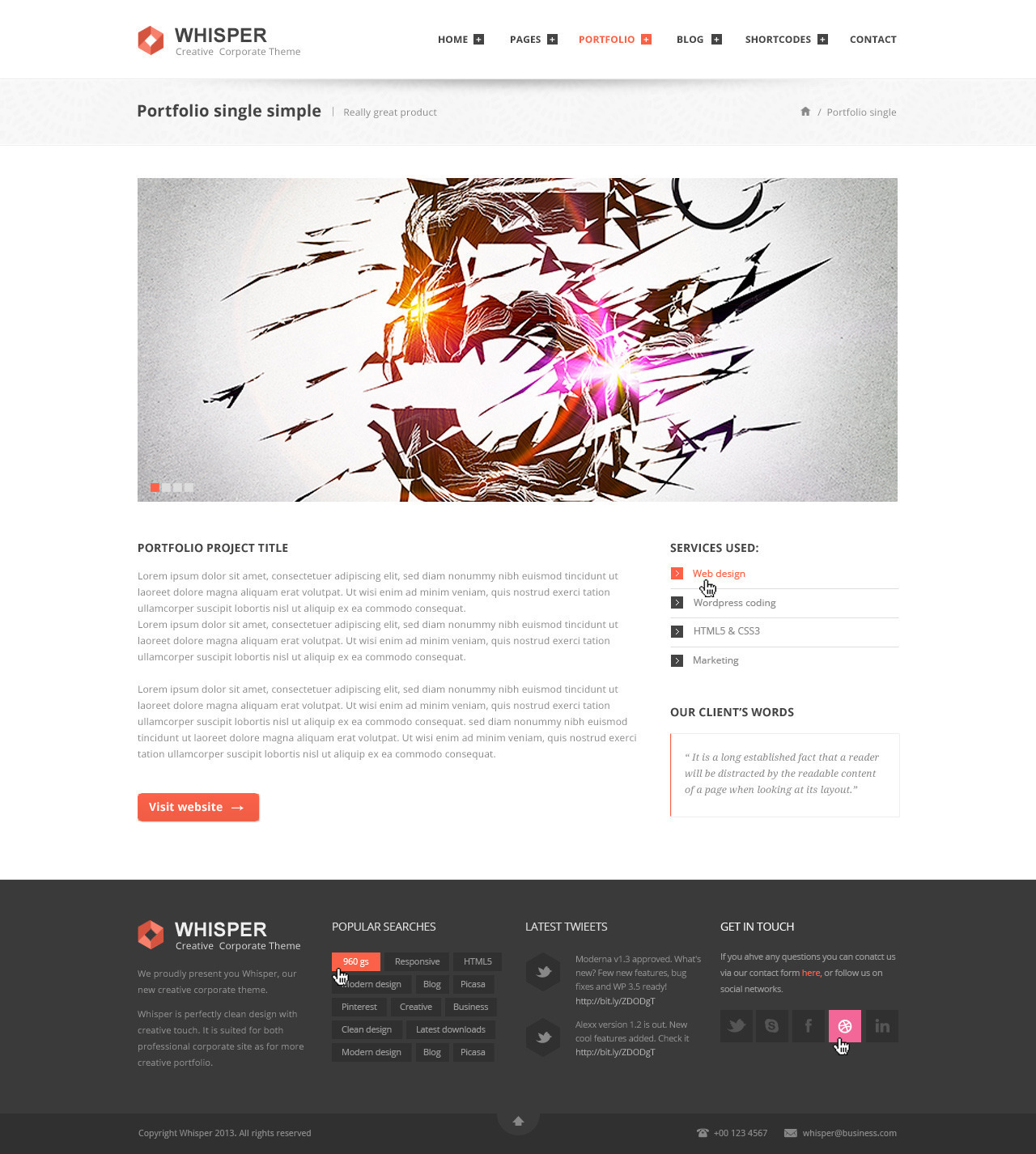 Whisper - Creative Corporate Theme