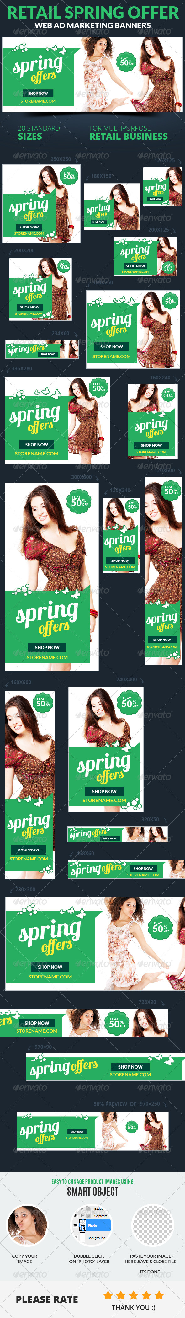 Retail Spring Offer Web Ad Marketing Banners
