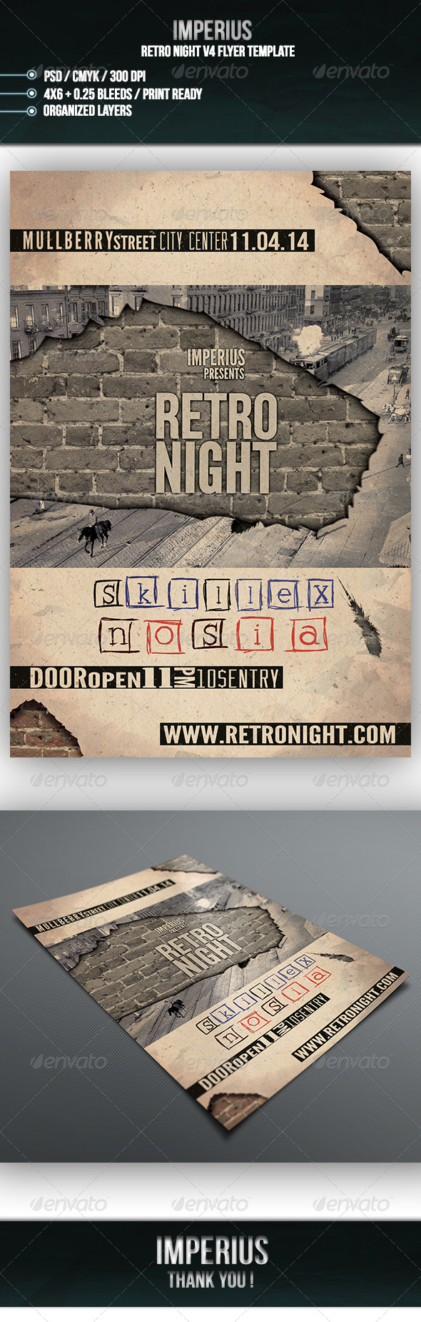 Retro Night V4  - Events Flyers