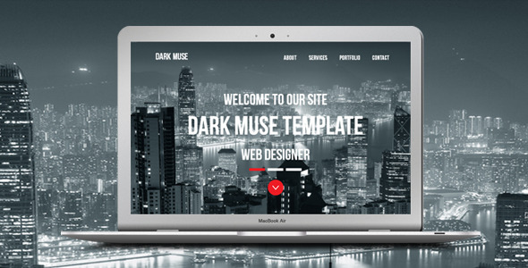 Dark Muse - One Page Parallax Template