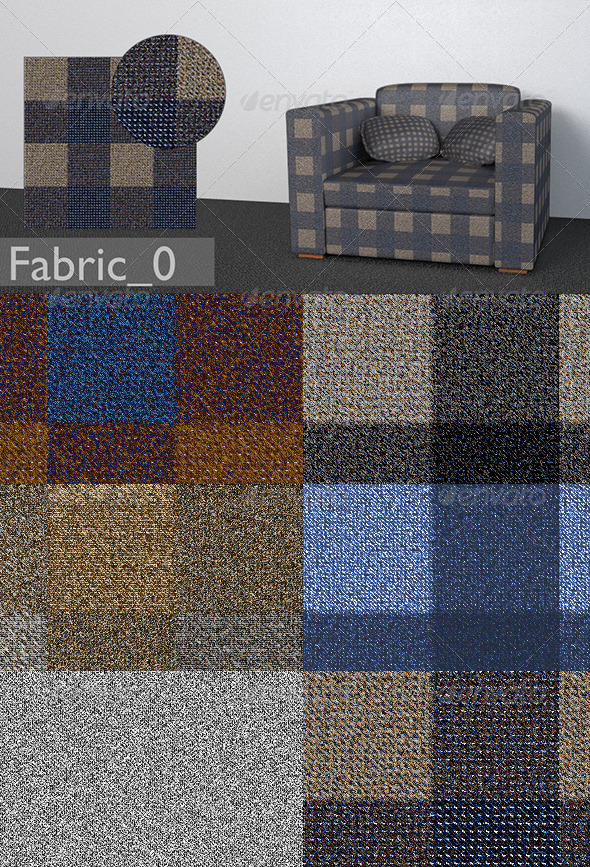 5 Furniture Textiles vol.1 - 3DOcean Item for Sale