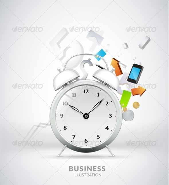 Time Management Conceptual Illustration - Concepts Business