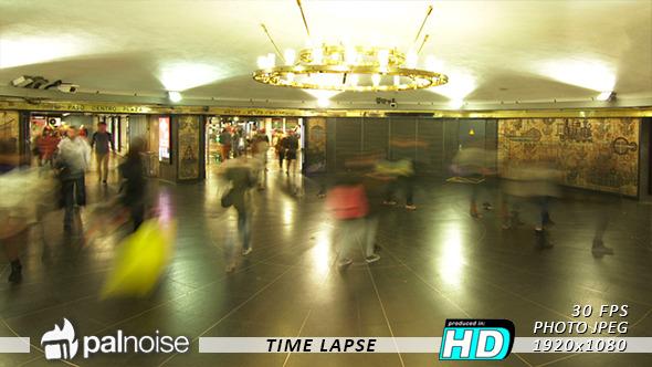 Subway Hall Station Crowd