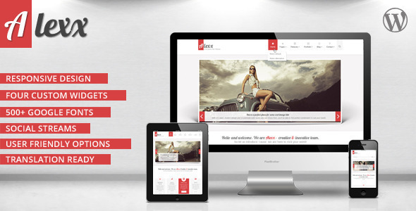 Alexx Multipurpose Wordpress Theme