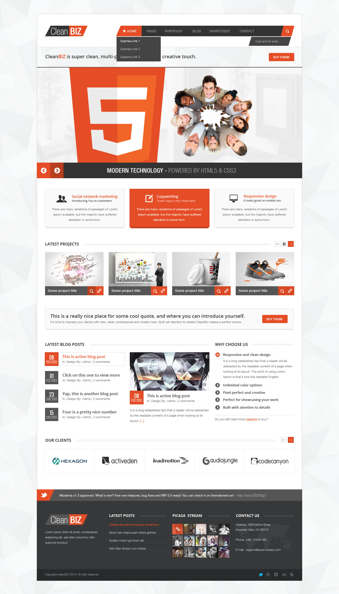 CleanBIZ - Creative Multipurpose Theme