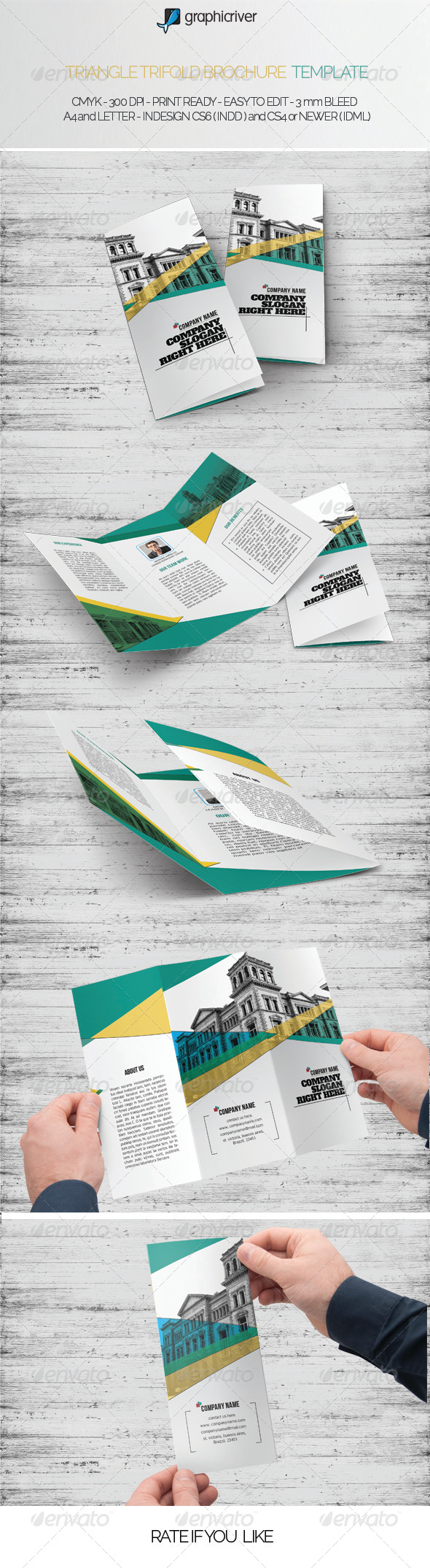 Triangle Trifold Brochure Template