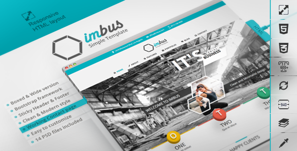 imbus - Simple HTML Template - Corporate Site Templates