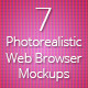 7 Photorealistic Web Browser Mockups - GraphicRiver Item for Sale