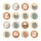 Documents Files and Folders Icons Set - GraphicRiver Item for Sale