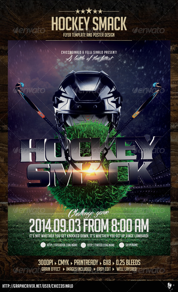 Hockey Smack Flyer Template - Flyers Print Templates