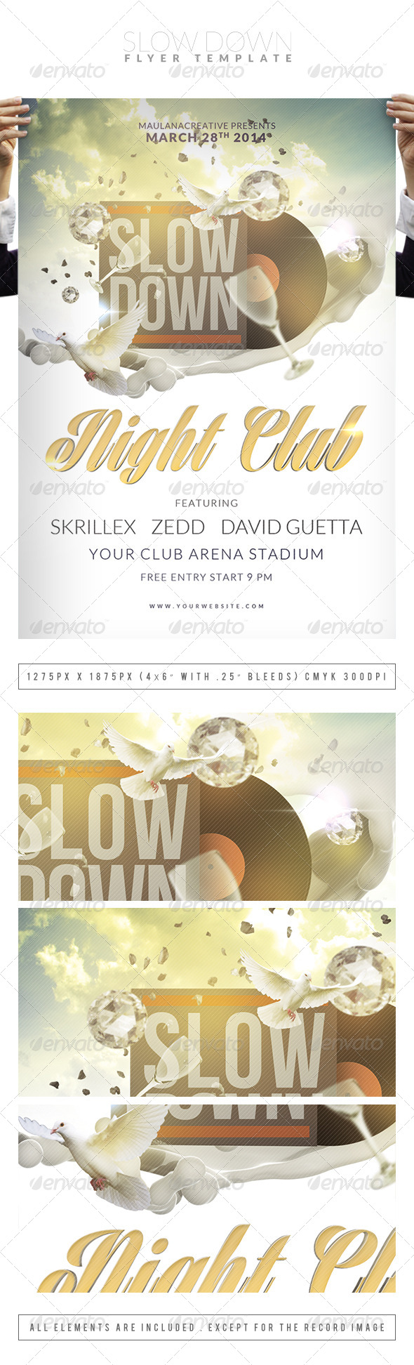 Slow Down Flyer Template - Clubs & Parties Events