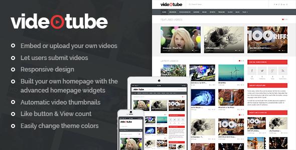 VideoTube - A Responsive Video WordPress Theme - Blog / Magazine WordPress