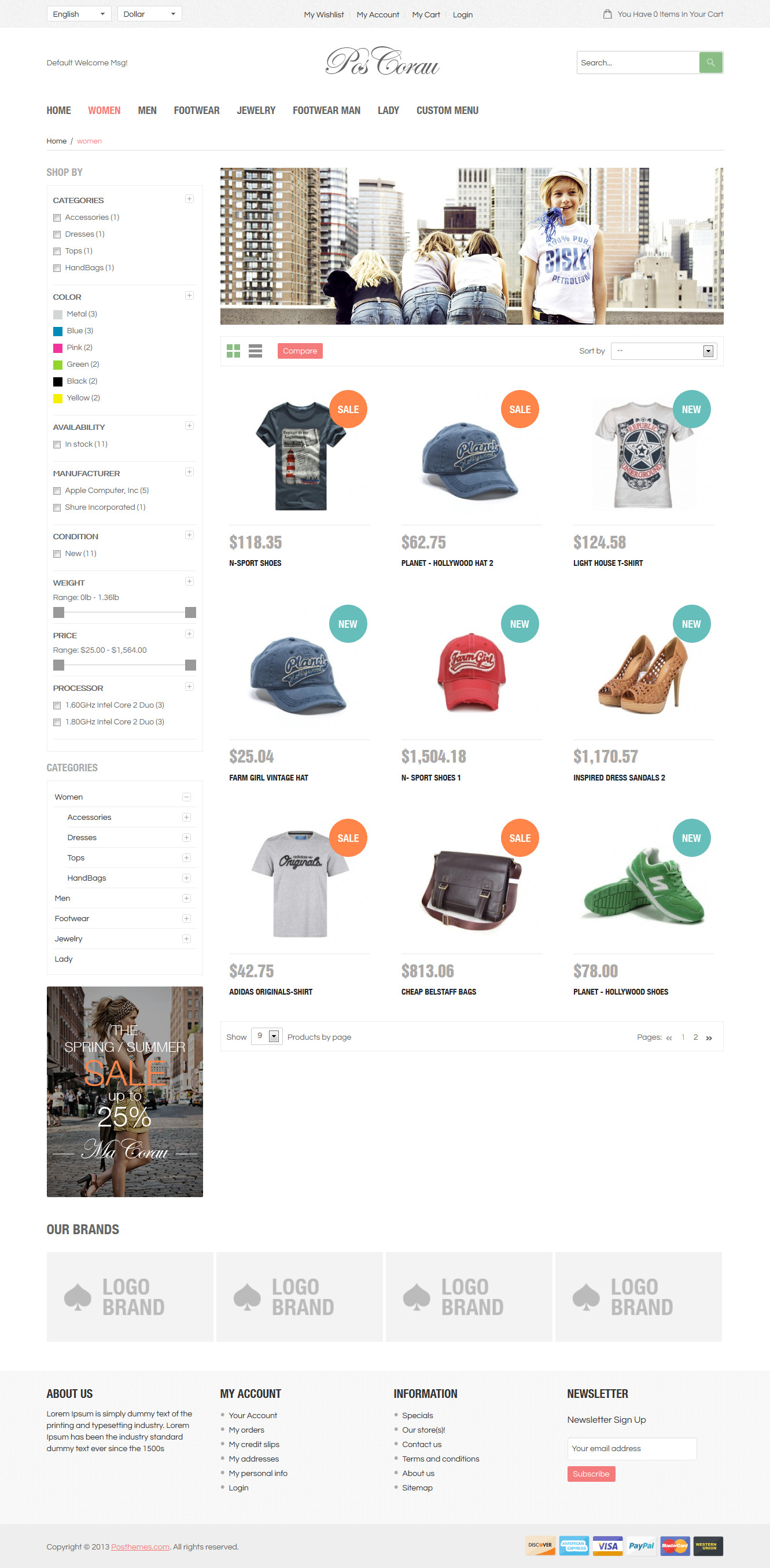 Corau - Fashion Responsive Prestashop Theme