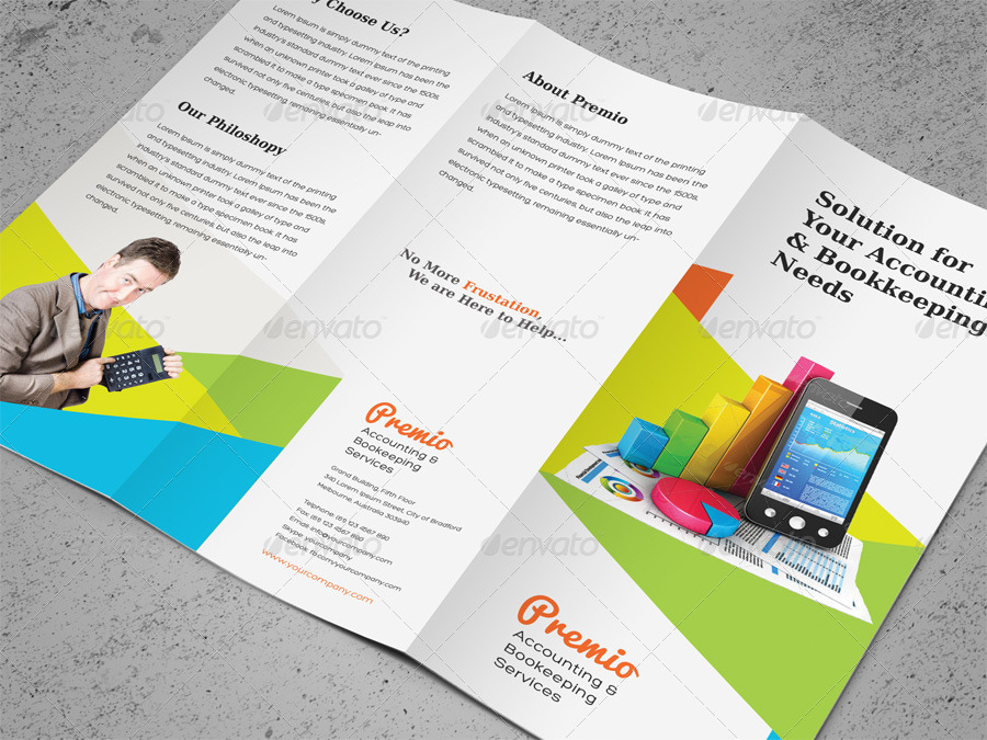 how to make accounting brochure