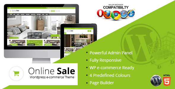 Online Sale - Responsive wp-ecommerce Theme